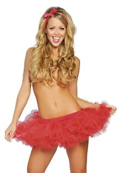Женские костюмы - Пышный красный подъюбник