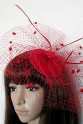 Маленькие шляпки - Шляпка Красная паутинка