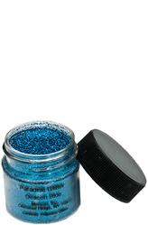 Грим для лица - Баночка с синими блестками