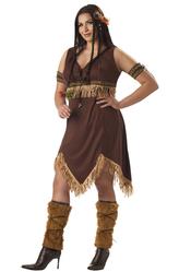 Ковбои и Индейцы - Костюм Смелая девушка-индеец плюс