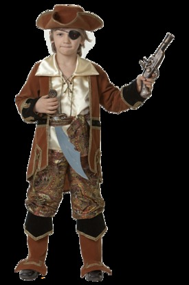 Смелый пират коричневый