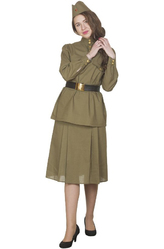 Солдат - Костюм Военная красавица